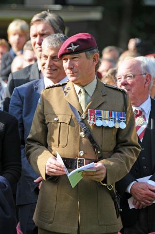 John Handford at Oosterbeek as Hon Col of 4 PARA