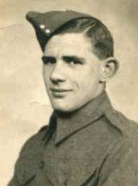 Pte Ivor (Jim) Fry Photo from Cliff Fry