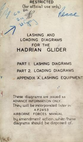 Lashing and Loading Diagrams for the Hadrian Glider
