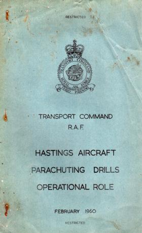 Hastings Aircraft. Parachuting Drills. Operational Role.
