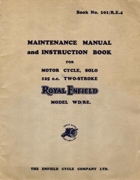 Maintenance Manual and Instruction Book for 125cc two stroke Royal Enfield