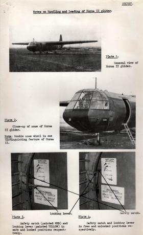 Notes on handling and loading of Horsa II Glider
