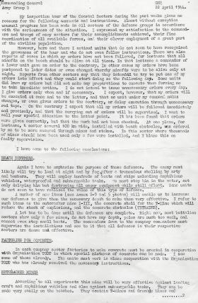 Rommel's report on defences at Normandy.
