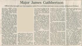 Obituary for Major James Cuthbertson
