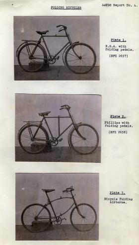 Various airborne bicycles. AATDC Report No. 4.