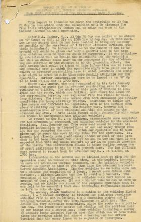 Report on the evacuation of 1st Ab Div survivors from Arnhem.