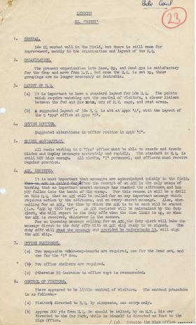 Lessons from Ex 'Bones'. August, 1944.