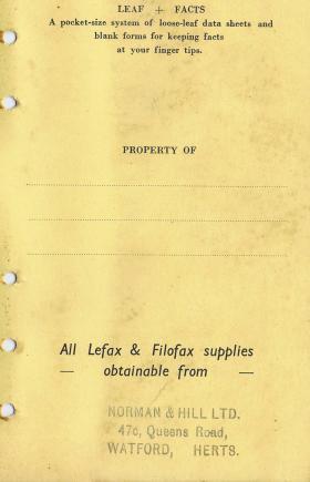 Major Hibbert's Brown Book