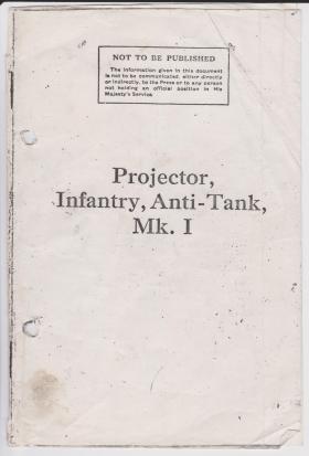 PIAT Mk. I Pamphlet. 1944.