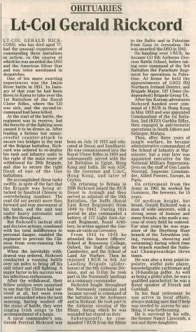 Obituary for Gerald Rickcord.