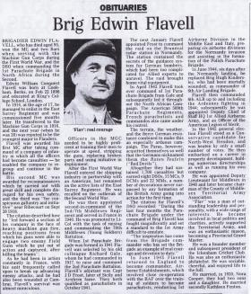 Obituary for Brigadier Flavell