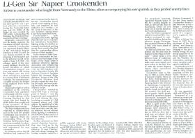 Obituary for Napier Crookenden.