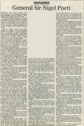 Obituary for Nigel Poett.