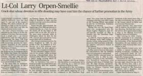 Obituary for Larry Orpen-Smellie.