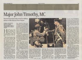 The Scotsman Obituary for Major John Timothy