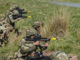 Airborne Signallers tested on soldiering competition