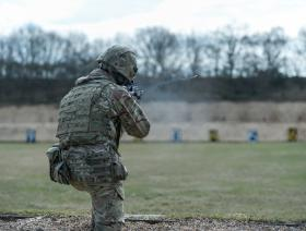 Soldiers on target in shooting competition
