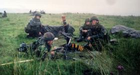 10 Para Mortars live firing, Otterburn, 1999.