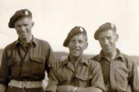 Walter Venables (on the right) with unknown members of 93 Coy taken in Norway 1945.