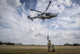 Paratroopers make speedy descent