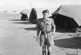 Lieutenant John Ayres at Muharraq, Bahrain, 1961.