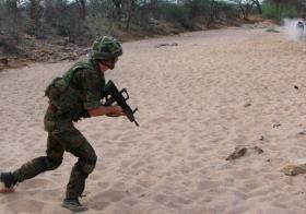 12 (Novia Scotia) HQ & Sp Sqn personnel on live F&M ranges. Kenya, 2007.