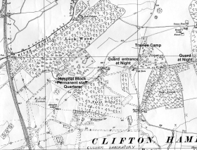 Map of Culham Camp showing Hospital Block.
