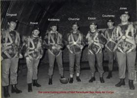 Pilots of the Squadron preparing for a night drop on Hankley Common.