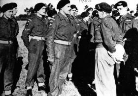 Pte Platt talks to Montgomery. 1944.