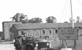 Carrick Watson in a Champ. PCAU living quarters. 1950s.