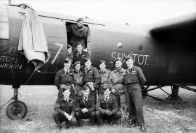 196 Sqn in front of a Horsa Glider, prior to D-Day.
