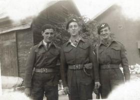 """MT Yard, Peninsular Barracks, Haifa – """"First day of Blanco"""" 1948."""