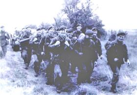 Paras on a march. Date unknown.
