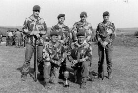 216 shooting team, winners of Roupell Trophy.