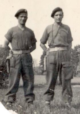Albert Breen (R) at Kletsin near Wismar. May, 1945.