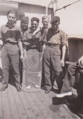 Paras en route to Palestine. 1947.