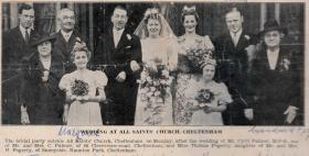 Cyril Palmer and Thelma Fogerty's wedding. Cheltenham, 1940.