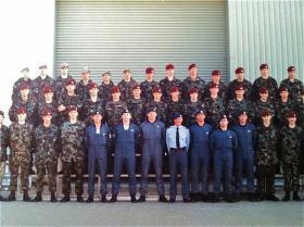 Territorial Army Course No. 8/97. No. 1 PTS RAF Brize Norton.