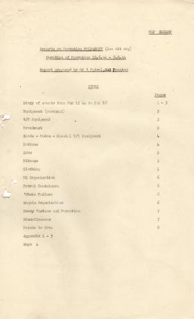 Report on Op Bulbasket (SAS)