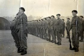 Pte Lovell on parade. Date unknown.
