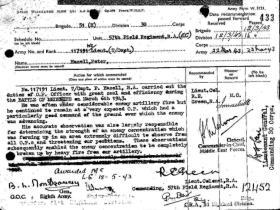 M.C. Citation for Maj P Hazell