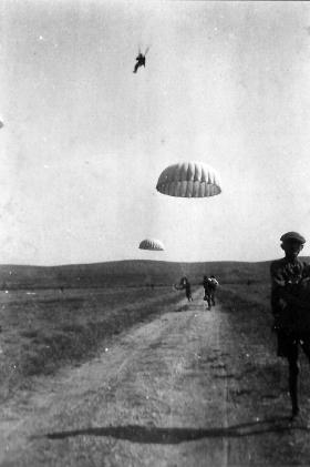 Parachute training in Italy. Date unknown.
