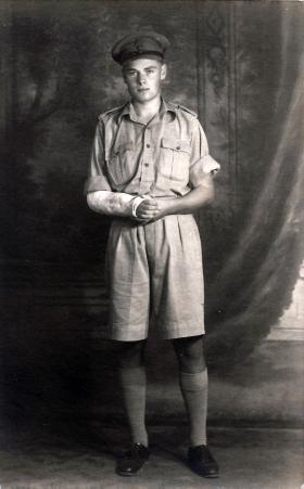 Noel Brady following his injury. Cairo, 1943.
