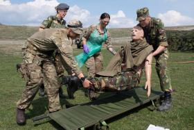 Airborne medics test NATO connections
