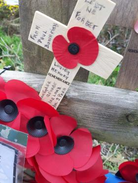 Remembrance Poppy for Christoper G Ireland