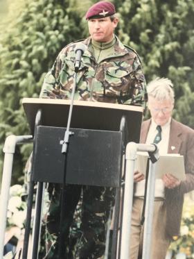 John Handford gives a speech on Ginkel Heath.