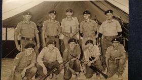 Members of 16 Parachute Heavy Drop Coy RAOC Cyprus 1971 with SLRs