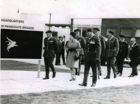 HM Queen Elizabeth visit to 16th Parachute Brigade, Aldershot, 1967.