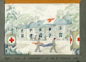 Watercolour of Ranville Dressing Station  June 1944