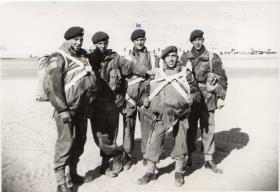 Men of 3 PARA in X type parachutes Canal zone 1952